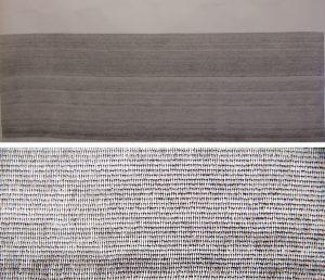 O.T., Tusche auf Papier 110x220cm, 2015/16