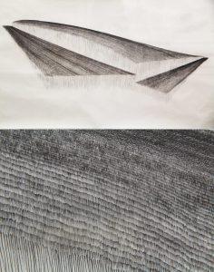O.T., Tusche auf Papier 78x148cm, 2013