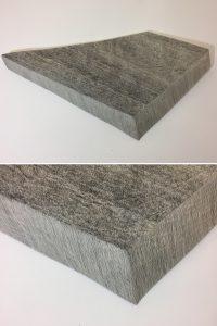 O.T. Tusche auf Papierkaschur, 87 x 46 x 7 ( Objekt, unten Detail )