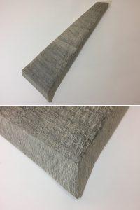 O.T. Tusche auf Papierkaschur, ( Objekt, unten Detail )