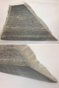 O.T. Tusche auf Papierkaschur,( Objekt, unten Detail )
