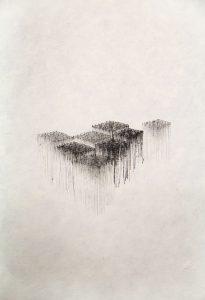 O.T., Tusche auf Papier 21x14,8cm, 2014