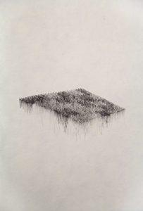 O.T., Tusche auf Papier 21x14,8xcm, 2015